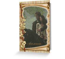 Outlander/Jamie & Claire on horseback  Greeting Card