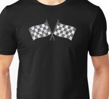 Two checkered racing  flags Unisex T-Shirt