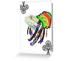 Rasta Bearded dragon Mon Greeting Card