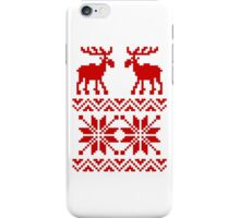 Moose Pattern Christmas Sweater iPhone Case/Skin