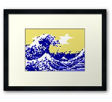 Pixel Tsunami Framed Print