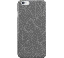 Pattern with leaves iPhone Case/Skin