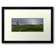 Glencolmcille Panorama with Church Framed Print
