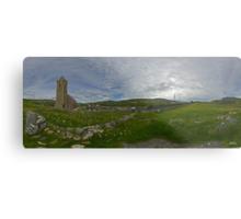 Glencolmcille Panorama with Church Metal Print