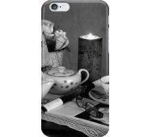 Reading and Coffee Time Black and White iPhone Case/Skin