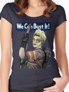 ghost buster Women's Fitted Scoop T-Shirt