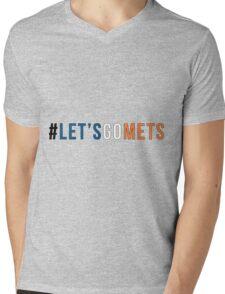 Let's Go Mets  Mens V-Neck T-Shirt