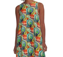colors in the wind... A-Line Dress