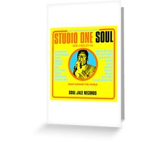 "STUDIO ONE "" SOUL "" Greeting Card"