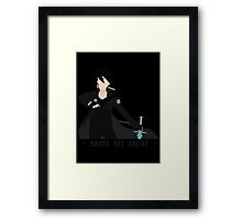 Kirito from Sword Art Online Framed Print