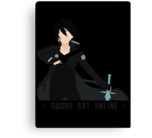 Kirito from Sword Art Online Canvas Print