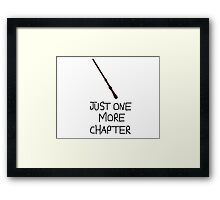Harry Potter Just One More Chapter Framed Print