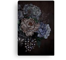 A Bouquet of Flowers On an Angle Canvas Print