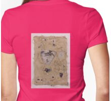 Torn layers of paper Womens Fitted T-Shirt