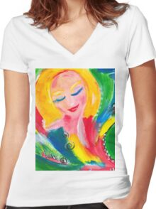 expectation Women's Fitted V-Neck T-Shirt