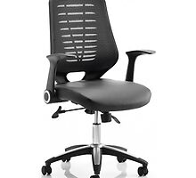 Relay Leather Seat Office Chair by atlantisofficee