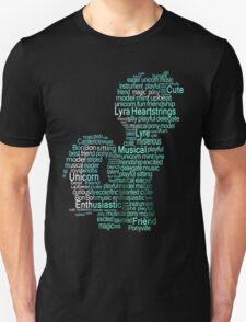 My Little Pony - Lyra Heartstrings Typography Unisex T-Shirt