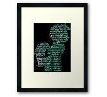 My Little Pony - Lyra Heartstrings Typography Framed Print