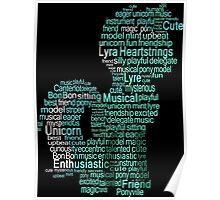 My Little Pony - Lyra Heartstrings Typography Poster