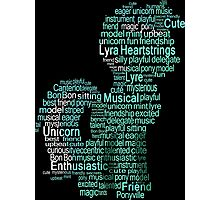 My Little Pony - Lyra Heartstrings Typography Photographic Print