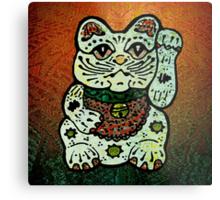 'Shiny Lucky Cat #3' Metal Print