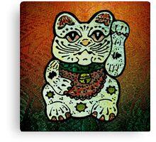 'Shiny Lucky Cat #3' Canvas Print