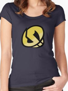 Team Skull Gold Logo - Pokemon Sun & Moon Women's Fitted Scoop T-Shirt