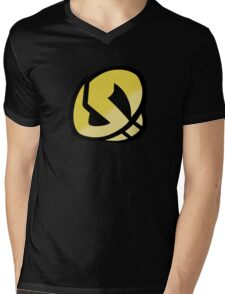 Team Skull Gold Logo - Pokemon Sun & Moon Mens V-Neck T-Shirt