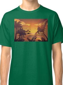 Tropical Island at Sunset 2 Classic T-Shirt