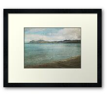 Postcard from the Seaside Framed Print