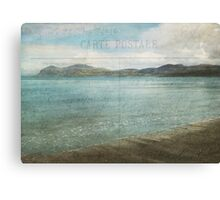Postcard from the Seaside Canvas Print