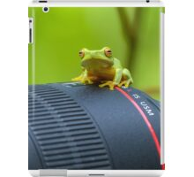 Frog on a Lens iPad Case/Skin