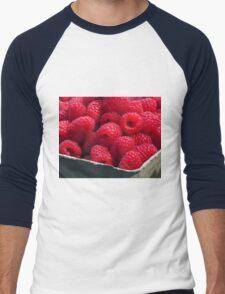 red raspberries Men's Baseball ¾ T-Shirt