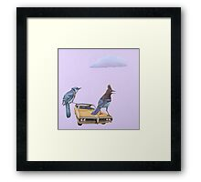 Two Jays and a Bonneville Framed Print