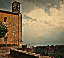 Storm Over Scared Valley-Castel Sant' Elia, Italy by Deborah Downes
