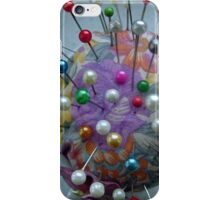 Cushion for pins iPhone Case/Skin