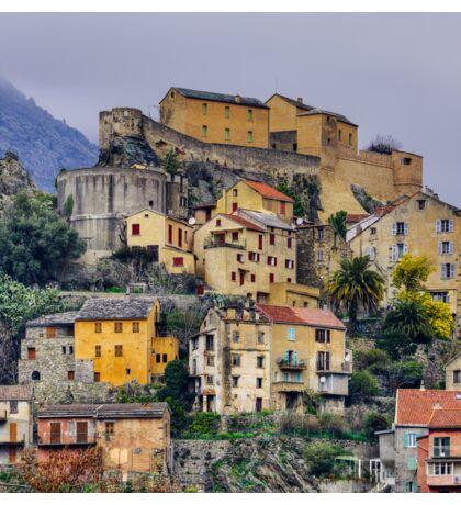 Corsica - Corte by a winter morning Sticker