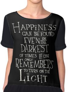 Harry Potter/Albus Dumbledore quote - Happiness Chiffon Top