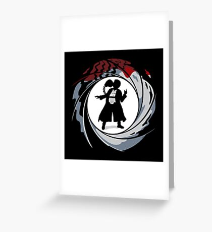 Double O Negative Greeting Card
