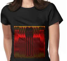 Cactus Fire Womens Fitted T-Shirt