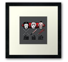 Hockey Mask Evolution Framed Print