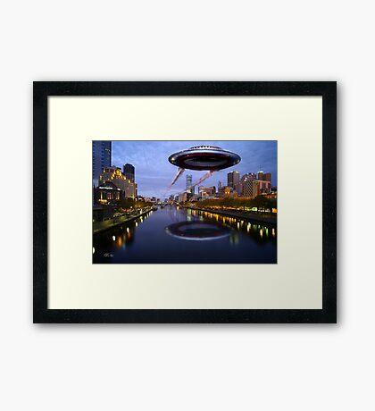 UFO Melbourne Framed Print