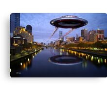 UFO Melbourne Canvas Print
