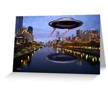 UFO Melbourne Greeting Card
