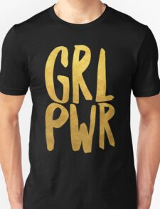 Girl Power Gold Text Unisex T-Shirt