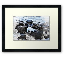 Rocky Beach Photo, Rock Pool Framed Print