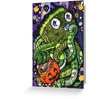 FrankenOcto Greeting Card
