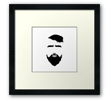 Bearded Man Face. Hipster Style. Framed Print