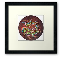 Abstract Blood Orange Fumes Framed Print