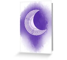 tarot card of the moon Greeting Card